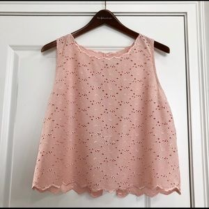 Do + Be Sleeveless Floral Pink Top